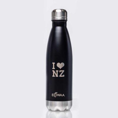 ecowaa-i-love-nz-stainless-steel-water-bottle-black