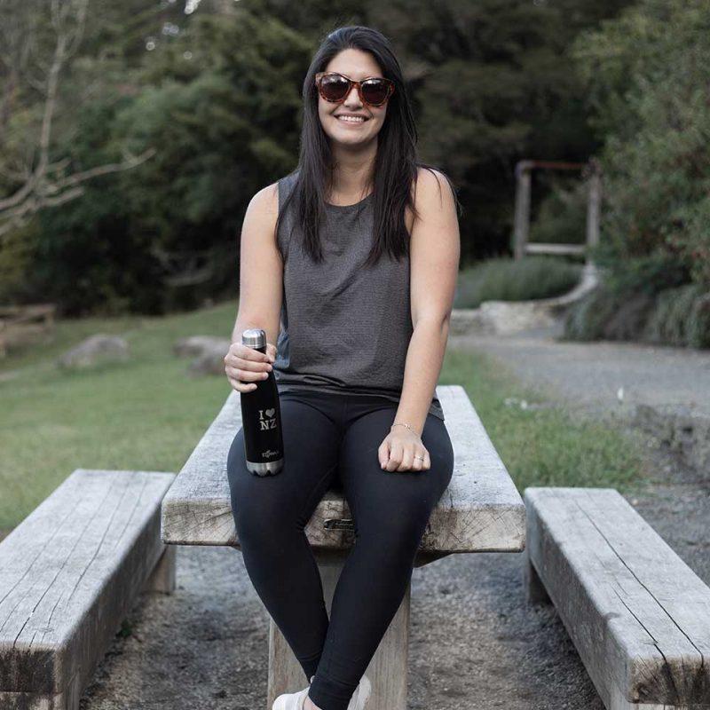 ecowaa love nz stainless steel water bottle black